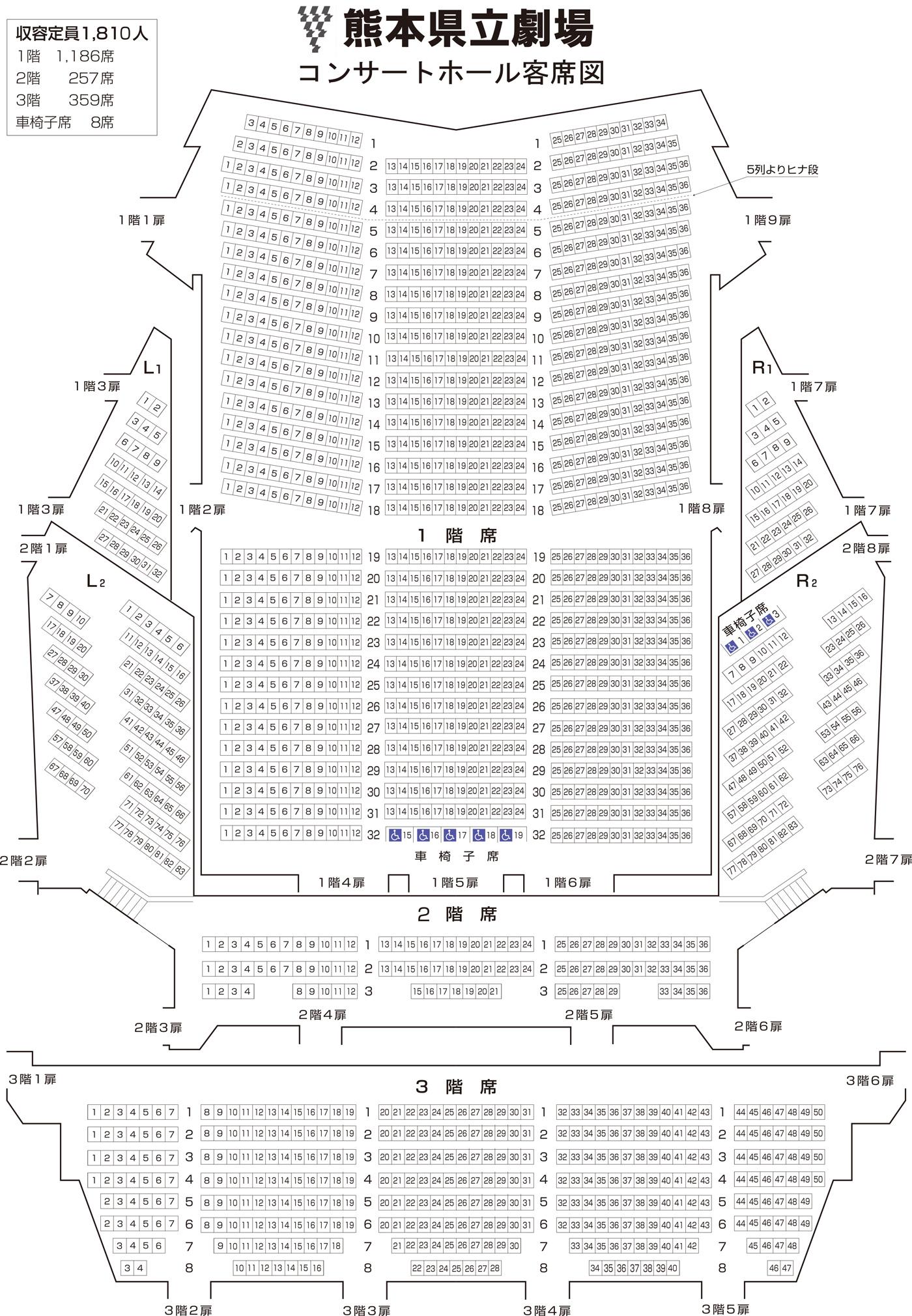 コンサートホール客席図
