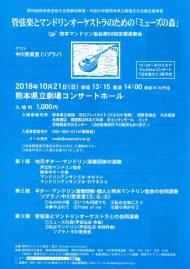 熊本マンドリン協会第50回定期演奏会チラシ表
